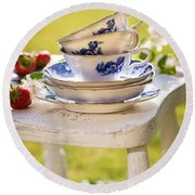 Afternoon Tea Round Beach Towel