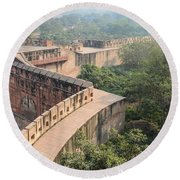 Agra Fort Tourist Destination In India Round Beach Towel