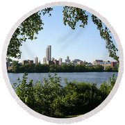 Albany Skyline Round Beach Towel