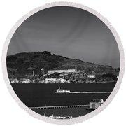 Alcatraz Island Round Beach Towel