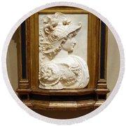 Alexander The Great By Andrea Del Verrocchio Round Beach Towel