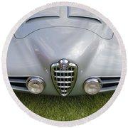 Alfa Romeo 1900 Ss Zagato Berlinetta 1956 Round Beach Towel