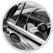 Alfa Romeo Steering Wheel Round Beach Towel