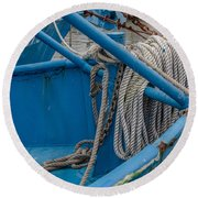 All Tied Up Round Beach Towel