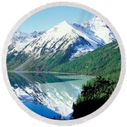 Altai Mountains Round Beach Towel by Anonymous