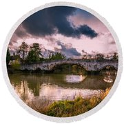 Alyesford Bridge Round Beach Towel