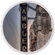 Ambler Theater - Ambler Pa Round Beach Towel