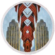 American Architecture Round Beach Towel