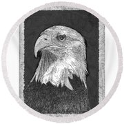 American Bald Eagle Round Beach Towel