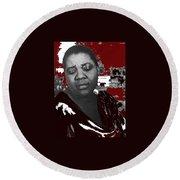 American Blues Singer Bessie Smith Unknown Date-2013 Round Beach Towel