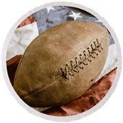 American Football Round Beach Towel