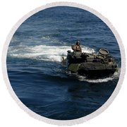 Amphibious Assault Vehicles Transit Round Beach Towel