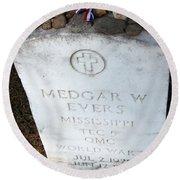Medgar Evers -- An Assassinated Veteran Round Beach Towel