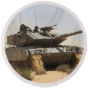 An Israel Defense Force Magach 7 Main Round Beach Towel