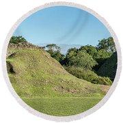 Ancient Mayan Ruins, Altun Ha, Belize Round Beach Towel