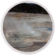 Anemone Geyser In Upper Geyser Basin Round Beach Towel