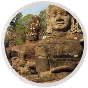 Angkor Thom South Gate Round Beach Towel