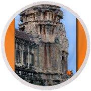 Angkor Wat Cambodia 2 Round Beach Towel