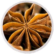 Anise Star Round Beach Towel