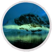 Antarctic Fiord Round Beach Towel