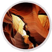 Antelope Canyon 9 Round Beach Towel