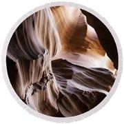 Upper Antelope Canyon Round Beach Towel