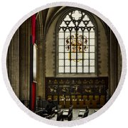 Antwerp Cathedral Round Beach Towel