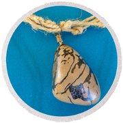 Aphrodite Mechanitis Necklace Round Beach Towel
