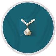Aphrodite Urania Necklace Round Beach Towel