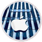 Apple In The Big Apple Round Beach Towel