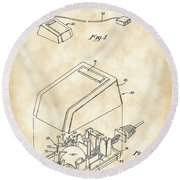 Apple Mouse Patent 1984 - Vintage Round Beach Towel