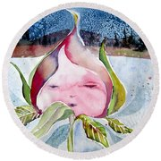 April Rose Round Beach Towel by Mindy Newman