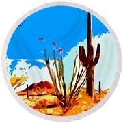 Arizona Desert Round Beach Towel