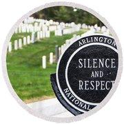 Arlington National Cemetery Part 1 Round Beach Towel