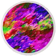 Art Abstract Background 97 Round Beach Towel