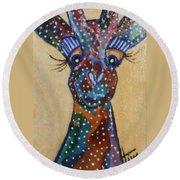 Girafe Art Round Beach Towel