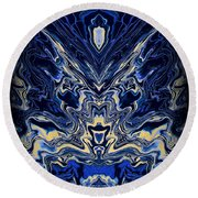Art Series 8 Round Beach Towel