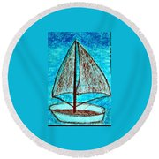 Art Therapy 146 Round Beach Towel