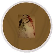 Art Therapy 19 Round Beach Towel