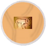 Art Therapy 199 Round Beach Towel