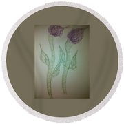 Art Therapy 53 Round Beach Towel