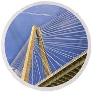 Arthur Ravenel Jr. Bridge 2 Round Beach Towel
