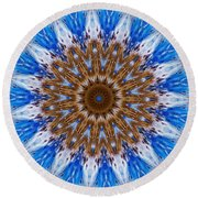 At The Edge Of The Lake Round Beach Towel