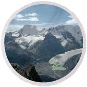 T-303504-athabasca Glacier In 1957 Round Beach Towel