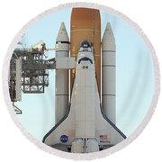 Atlantis Space Shuttle Round Beach Towel