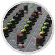Audio Mixing Board Console Round Beach Towel