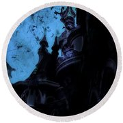 Aurora's Nightmare II Round Beach Towel