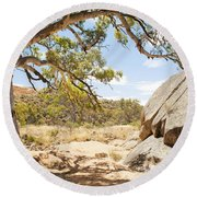 Australian Outback Oasis Round Beach Towel