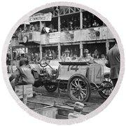 Auto Racing, 1910 Round Beach Towel