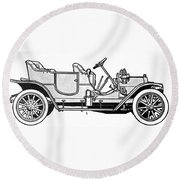 Automobile, C1905 Round Beach Towel
